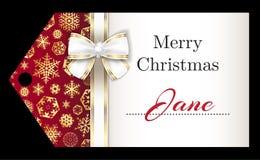 与金黄雪花a的豪华圣诞节名牌 库存图片