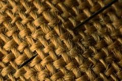 与针的被编织的织品 图库摄影