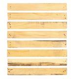 与钉子头的木板条 免版税库存照片
