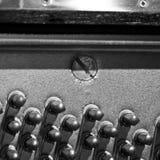与钉的钢琴Soundboard 免版税库存照片