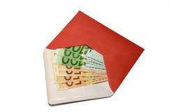 与钞票的一个信封 库存照片