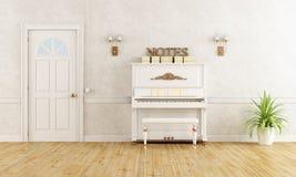 与钢琴的家庭入口 向量例证
