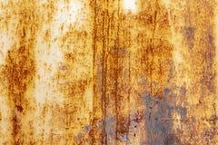 与铁锈和老油漆的金属表面 免版税图库摄影