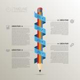 与铅笔的时间安排infographic企业模板 向量 图库摄影
