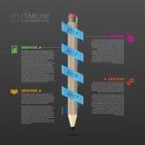 与铅笔的时间安排infographic企业模板 向量 库存照片