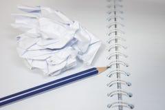 与铅笔的纸 库存照片