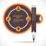 创造性的教育Infographics 免版税库存图片