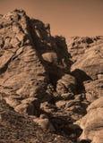 与铜结束的红色岩石峡谷 图库摄影