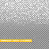 与银色五彩纸屑纹理发光的雨的光线影响灰色  免版税图库摄影