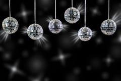 与银色发光的迪斯科球 免版税图库摄影