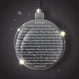 与银色晚上球的圣诞节背景 免版税库存图片
