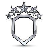 与银色概述和五个星的欢乐传染媒介象征 免版税库存图片