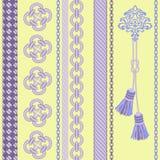 与链子,绳索,缨子的背景。 免版税库存照片