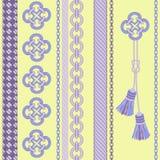 与链子,绳索,缨子的背景。 库存照片