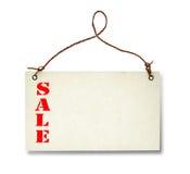 与销售文本的空白的价牌 免版税库存照片