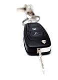 与锁定的新的汽车关键字和打开按钮 免版税库存图片