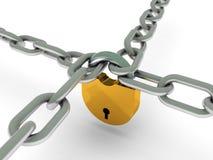与锁定的链子 免版税库存照片