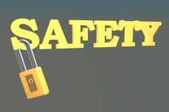 与锁的安全 向量例证