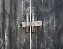 与锁的木门 库存图片