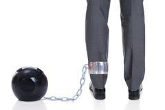 与锁链的商人附加腿 库存照片