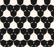 与锋利形状,三角,六角形的单色几何无缝的样式 向量例证
