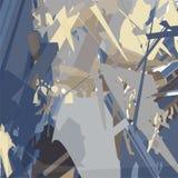 与锋利的线的抽象绘画在黑暗的背景 向量例证