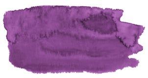 与锋利的边界和离婚的水彩背景时髦颜色大丽花 水彩刷子污点 皇族释放例证