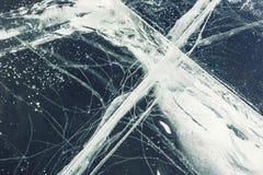 与镇压和泡影的天然冰 库存照片