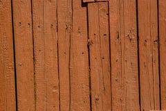 与镇压的布朗木老铺板背景 库存照片