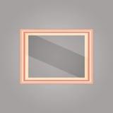 与镜象反射的被创造的桃红色金框架 免版税库存照片