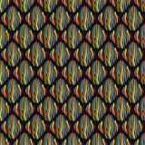 与镶边菱形的无缝的样式 向量例证