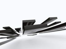 与长方形的抽象建筑3D设计 免版税库存照片