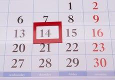 与长方形的日历 免版税库存照片