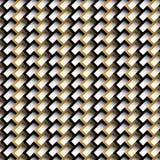 与长方形砖的美好的无缝的几何样式 免版税库存图片