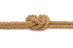 与长的大麻绳索的概念 库存照片