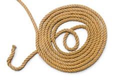 与长的大麻绳索的概念 库存图片
