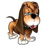 与长的耳朵的狗 免版税图库摄影