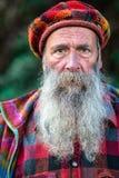 与长的胡子的字符山 免版税库存图片