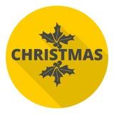 与长的阴影的圣诞节象 皇族释放例证