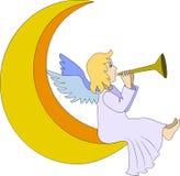 与长笛的天使 免版税图库摄影