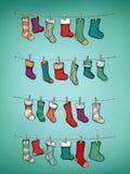 与长袜的出现日历 库存图片