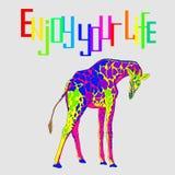 与长颈鹿的图象的例证 免版税库存图片