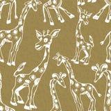 与长颈鹿的样式 免版税库存图片