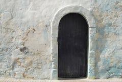 与门的难看的东西蓝色背景 免版税库存照片