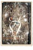 与门铃木照片的圣诞卡 库存图片