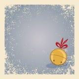 与门铃的圣诞节/冬天背景 免版税图库摄影