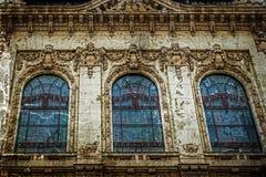 与门面的老照片在古典大厦在贝尔格莱德 库存照片