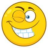 与闪光表示的微笑的黄色动画片兴高采烈的面孔字符 皇族释放例证