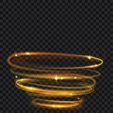 与闪烁的发光的火圆环 库存图片