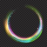 与闪烁的多彩多姿的发光的火圆环 皇族释放例证